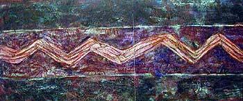 I nagrada Dragan DIMIĆ, Zapis, kombinovana tehnika, 340 x 140 cm