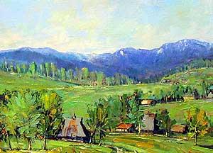 Jovan PANTOVIĆ: Pejzaž sa Zlatibora, ulje na platnu, 80 x 60 cm