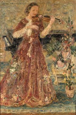 Portret violinistkinje Marije Mihailović