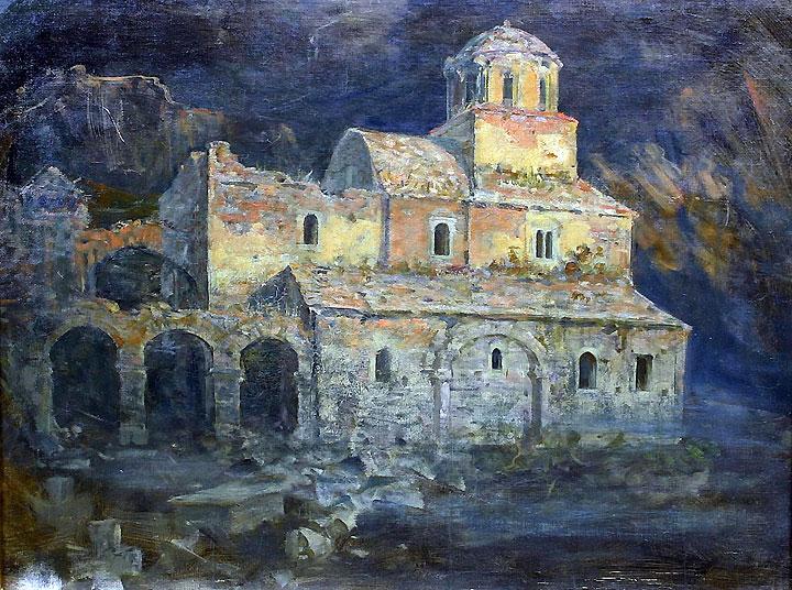 MANASTIR SOPOĆANI, ulje na platnu, 1898