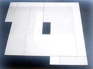 Aleksandra PAVIĆEVIĆ, a i a, kombinovana tehnika, 100 x 100 cm