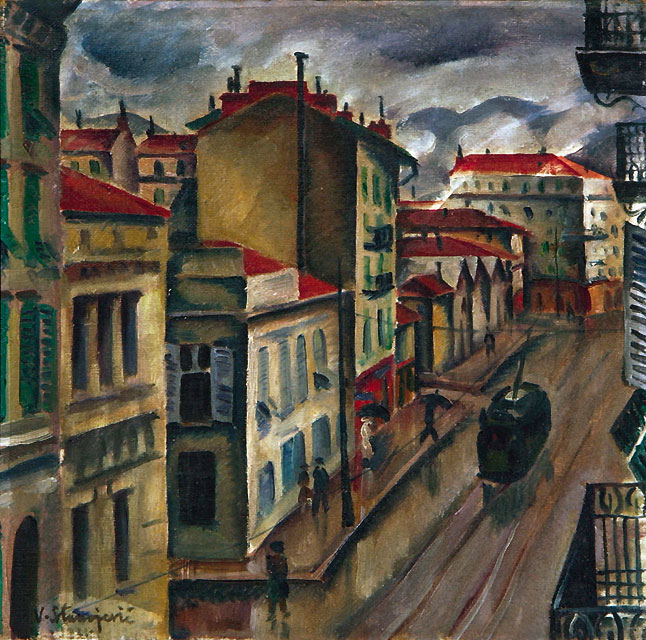 Veljko Stanojević, ULICA U PARIZU, 1921.