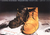 II NAGRADA Mladen Jevđović SET DIZAJN za 6. jugoslovenski pozorišni festival Užice 2001, višebojni ofset